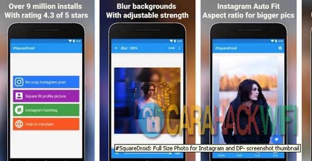 Squaredroid aplikasi untuk memotong foto profil