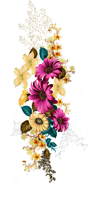 Digital print flower design 677