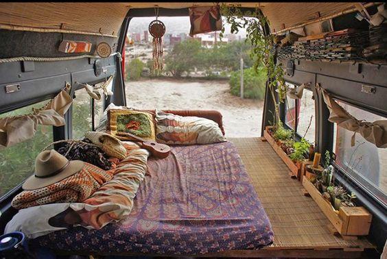 Moon to moon wanderlust bus life - Van interior design ideas ...