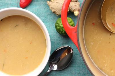 soupe oignons lait de coco