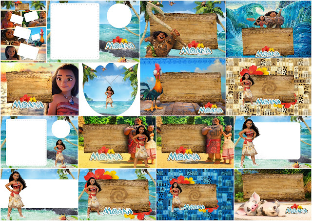 Moana: Free Printable Invitations.