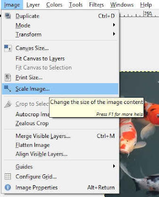 Reduce the image resolution by scale the image down using GIMP.