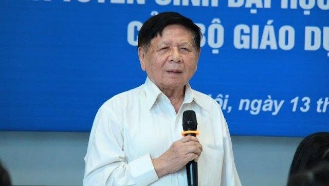 PGS.TS Trần Xuân Nhĩ – nguyên Thứ trưởng Bộ GD&ĐT