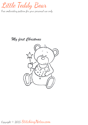 Stitching Notes: First Christmas Placemat + Embroidery Pattern