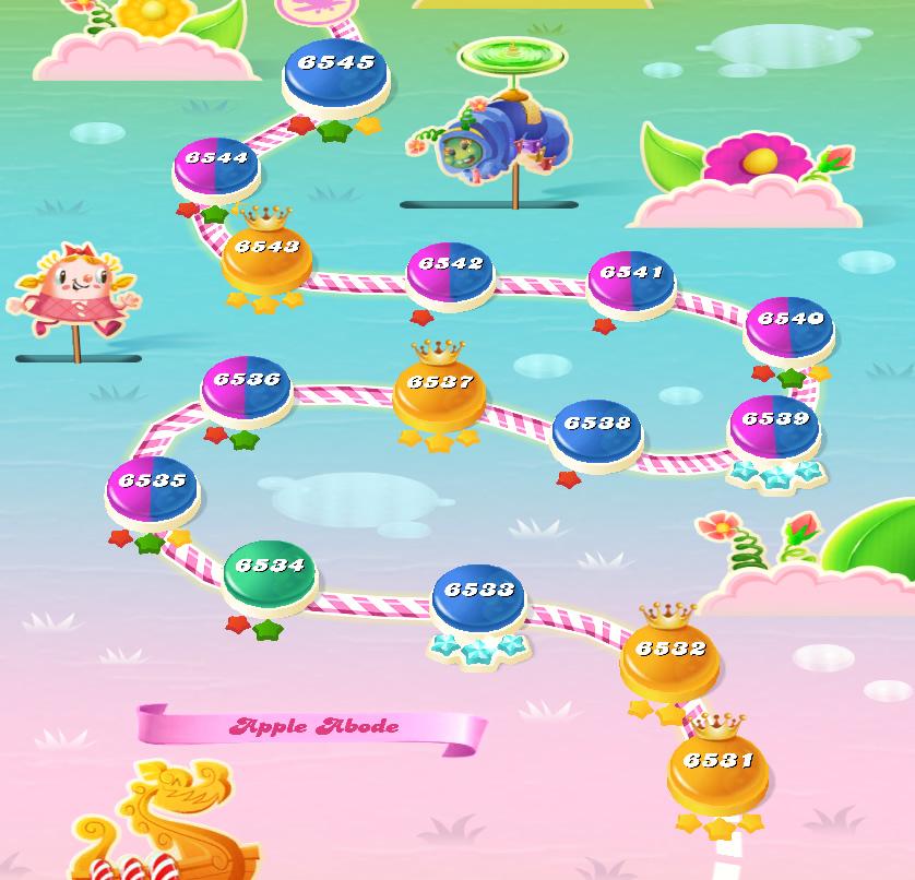 Candy Crush Saga level 6531-6545