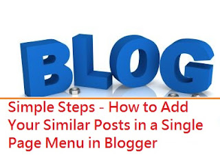 Posts in a blogger page