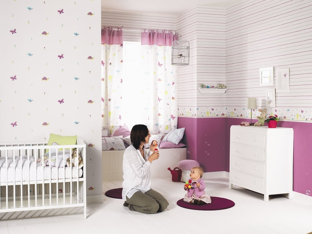 papel pintado infantil happy world