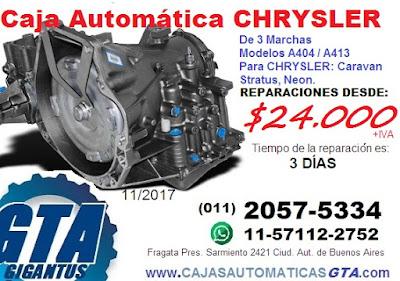 Reparacion y venta de Caja automatica Chrysler caravan neon stratus