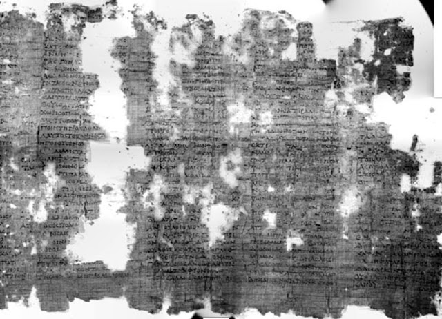 Ancient Greek papyri virtually unwrapped in Italy