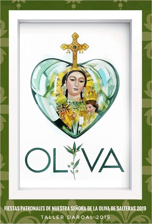 Cartel de las fiestas patronales en honor a Nuestra Señora de la Oliva de Salteras (Sevilla) 2019