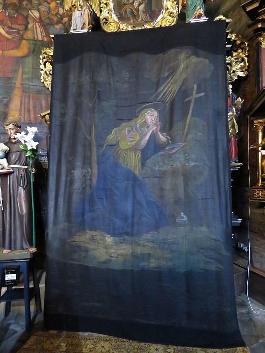 Kurtyna wielkopostna - Pokutująca Maria Magdalena.
