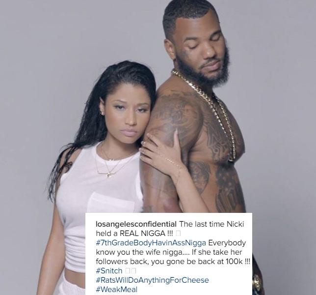 The Game flames Meek Mill over girlfriend Nicki Minaj
