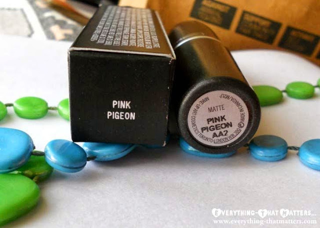 MAC+Pink+Pegion+Lipstick+Swatch+Review+LOTD