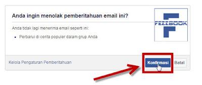 cara agar email tidak ada lagi notifikasi dari facebook FB