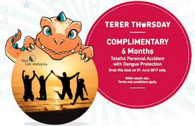 MyUMobile App Terer Thursday Freebie Sun Life Malaysia Insurance Takaful Personal Accident With Dengue Protection