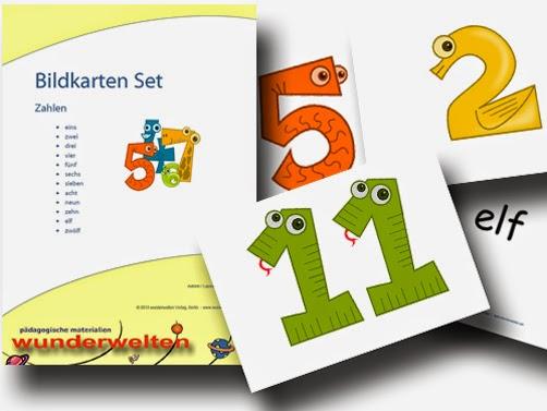 Bildkarten ´Zahlen´ - DaZ Material für die Sprachförderung in der Grundschule