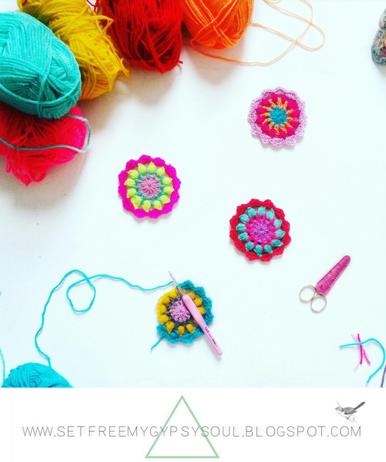 mini mandala fast free crochet pattern beginner