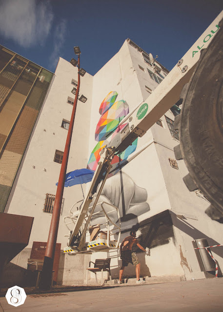 Street Art By Spanish Artist Okuda On The Streets Of Zaragoza, Spain. 4