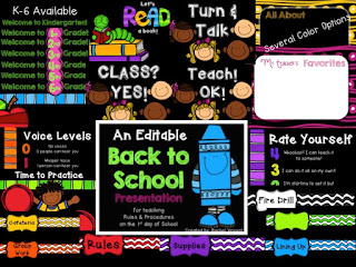 Editable Back to School Presentation