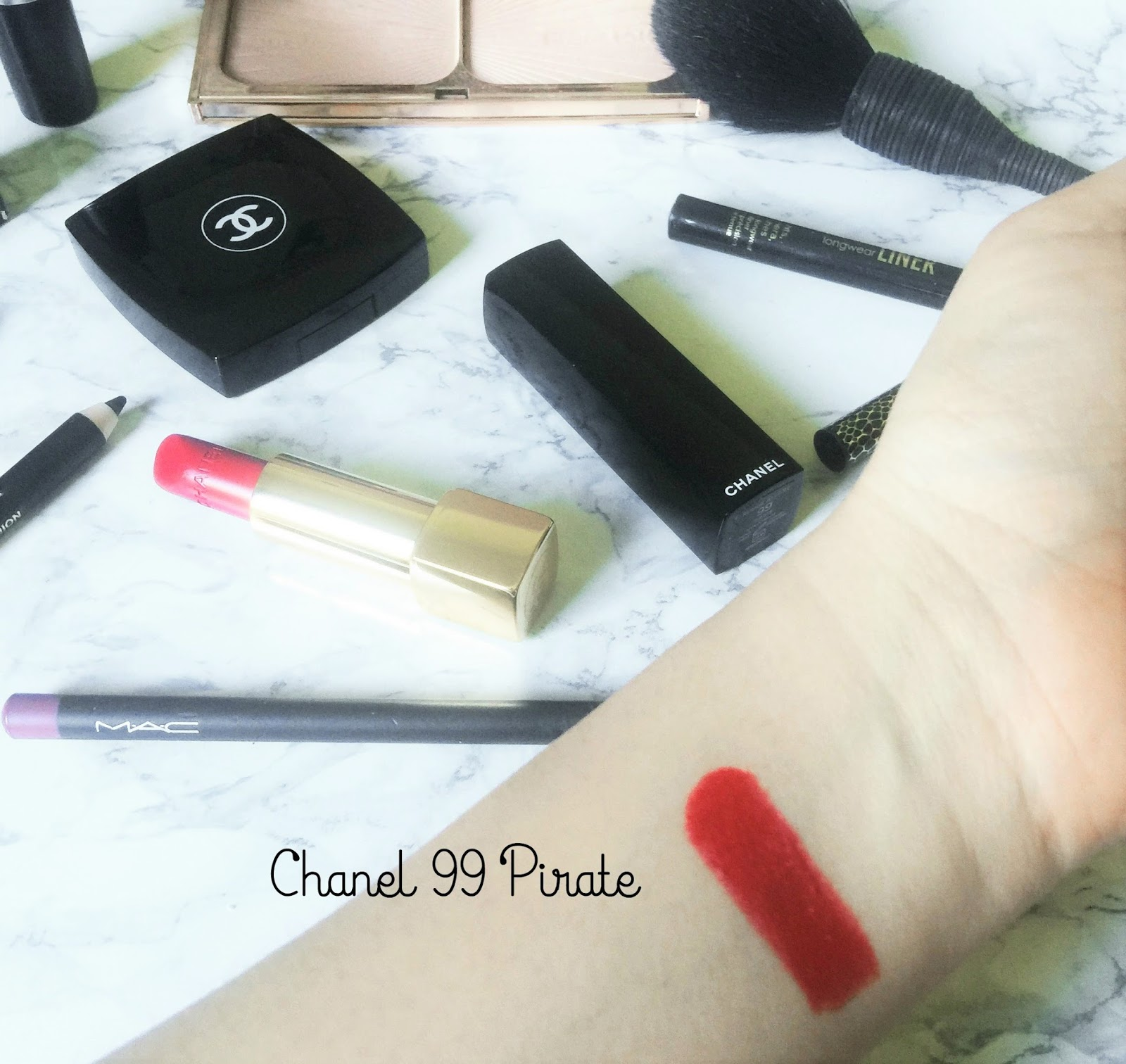 Chanel Rouge Allure Satin Lipcolour Pirate Swatch