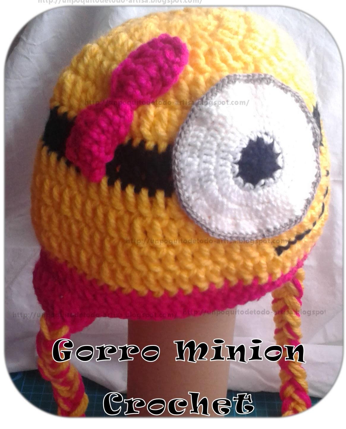 Un Poquito de Todo: Gorro minion a crochet - encargo