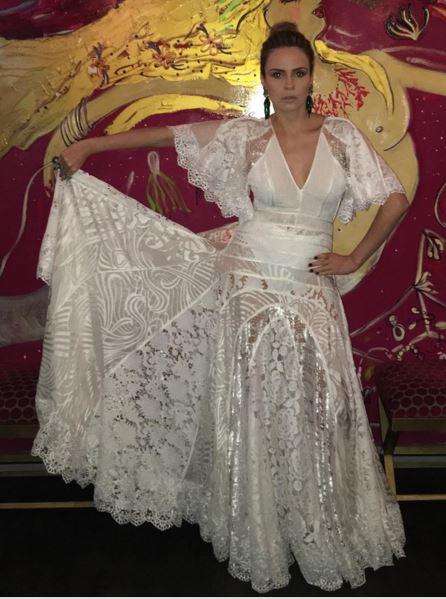 Ana Paula final BBB16 vestido branco