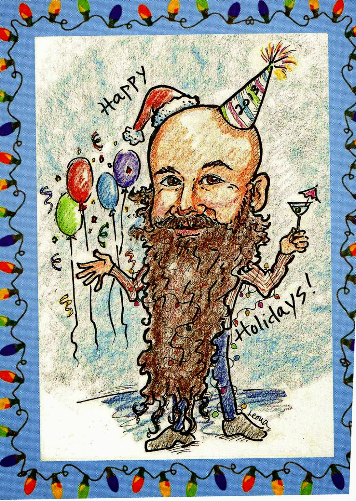 Caricatures by Leona, Christmas, New Years