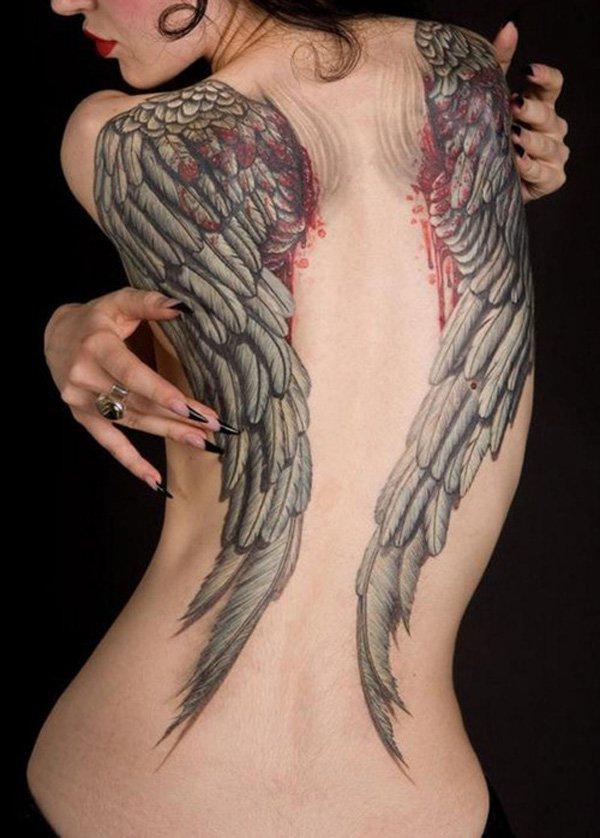 35 Lindas Tatuagens De Asas Marte é Para Os Fracos