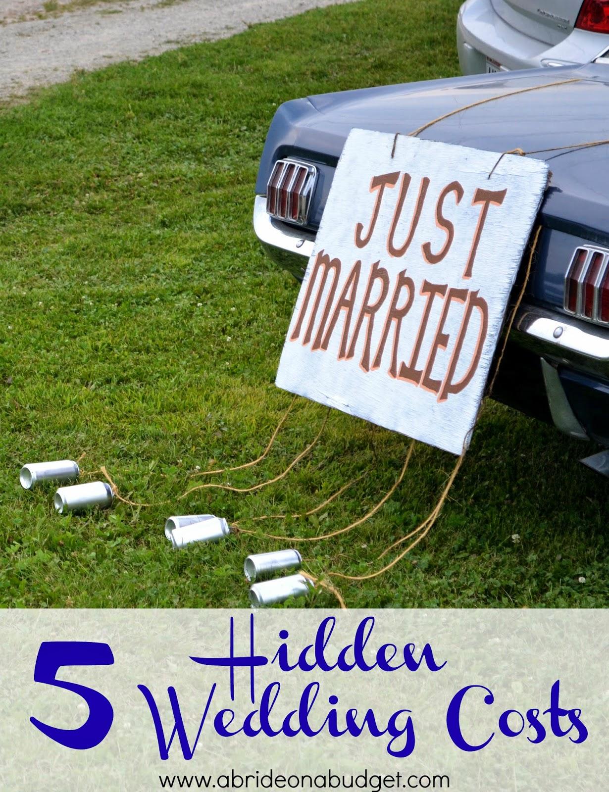 隐藏婚礼成本