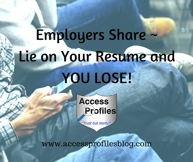 access profiles inc employers lie on your