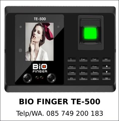 Grosir Mesin Absensi Bio Finger TE-500 Asli Murah Berkualitas