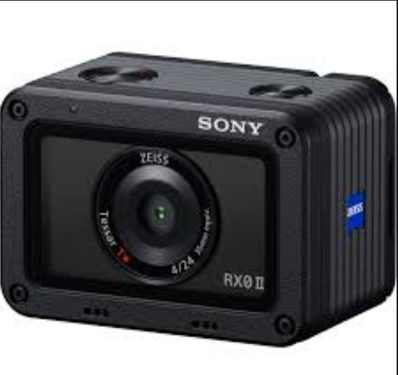 Sony RX0 II Action Camera with internal 4K recording, stability, flip-up display
