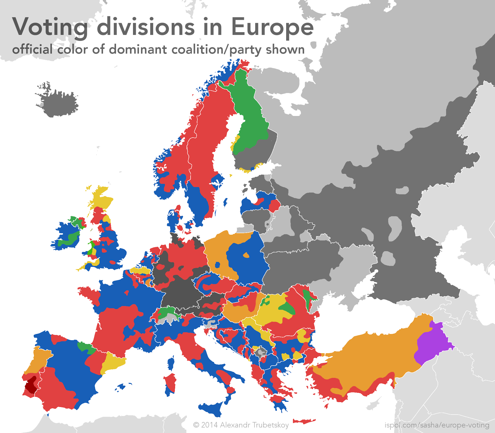 Voting Divisions in Europe
