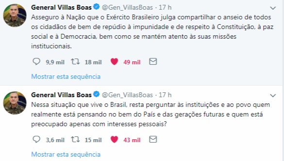 Tweets do General Villas Boas