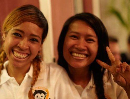 friendly staff at Mad Monkey Hostel, Siem Reap