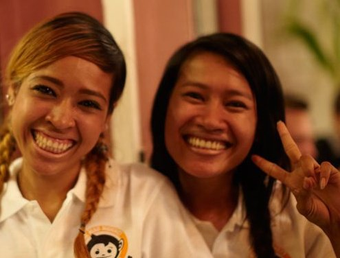 friendly staff at Mad Monkey Hostel, Siem Reap