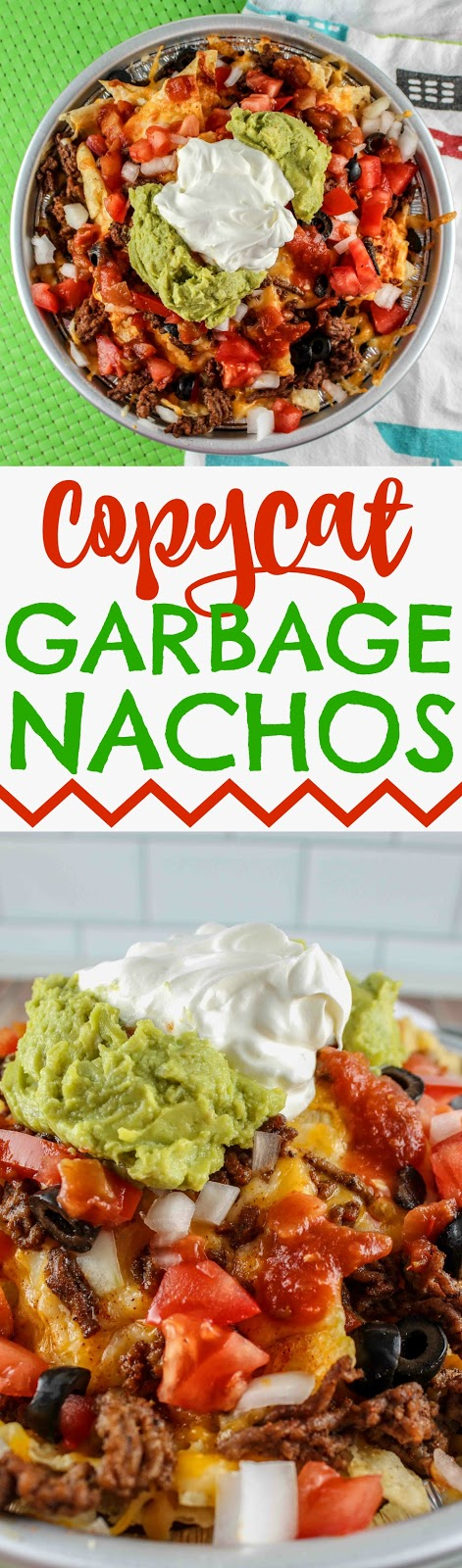 When I visited Gulf Shores and Orange Beach - one place I loved was Tacky Jacks! These Garbage Nachos were so fun and so delicious!  had to make them myself! They could also be called Kitchen Sink nachos because they've got everything!