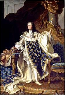 Ο βασιλιάς Λουδοβίκος ΙΕ της Γαλλίας .