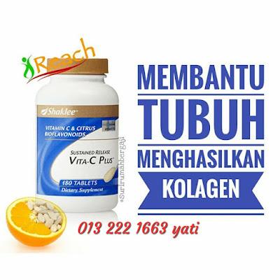 VitaminC-Shaklee-Hilangkan-Parut-Jerawat