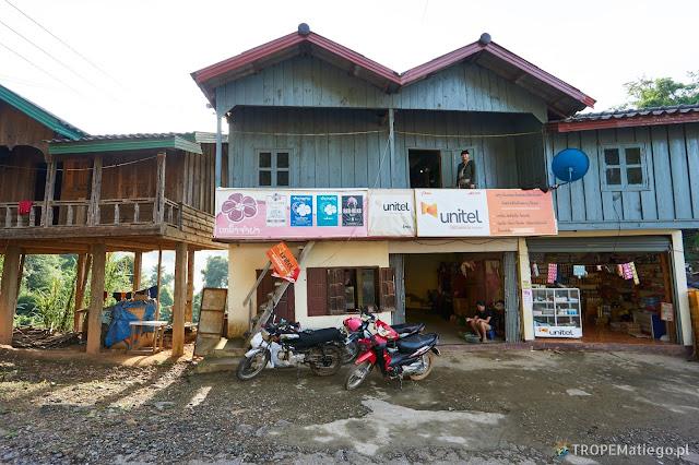 Nocleg w Kohing, Laos