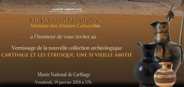 'Carthage and Etruscans: An old friendship' at the Carthage National Museum, Tunisia