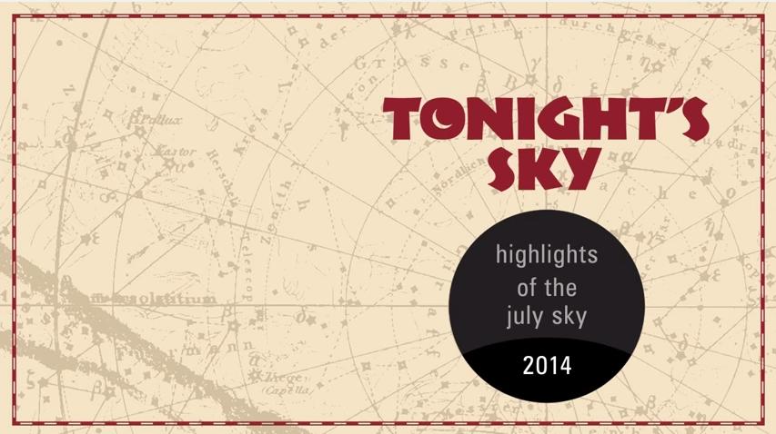 Bầu trời đêm tháng 7/2014