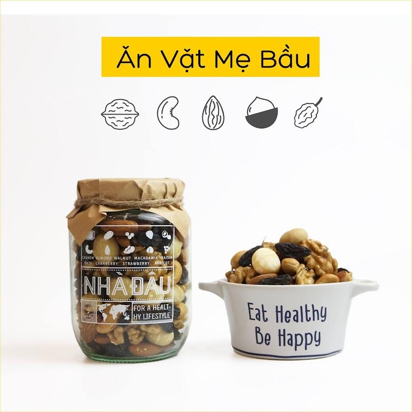Mixnuts 5 loại hạt giàu Axit folic tốt cho Mẹ Bầu