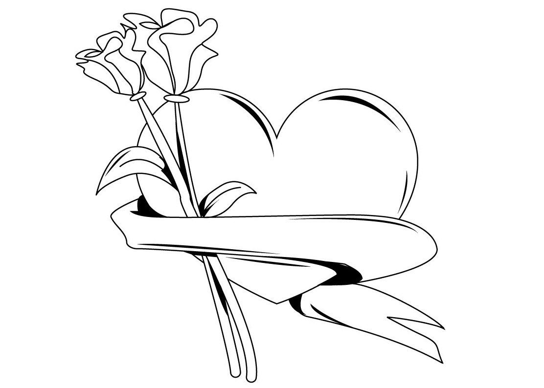Imagenes de amor para colorear e imprimir | Imagenes de Corazones