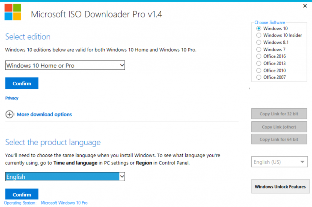 Microsoft ISO Downloader Pro v1 4 - dinislamintopc-Software for fee