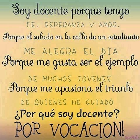 SOY DOCENTE....