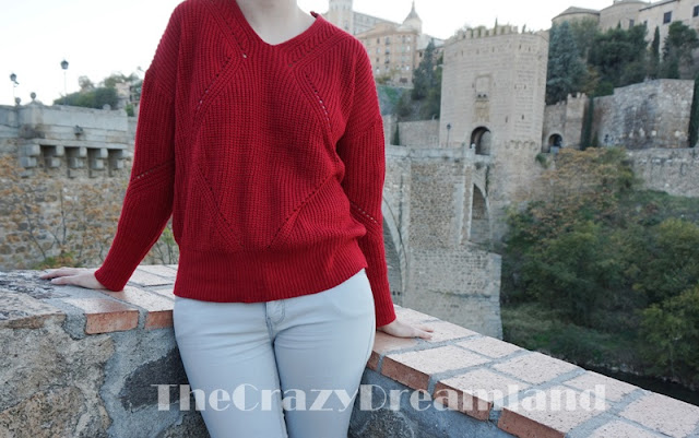 sweater-wine-red-zaful