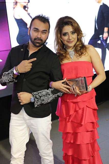 Designer Amit Talwar with Alma Rancher