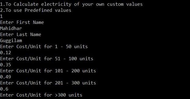 All C Programs: Program 352: Calculate Electricity Bill