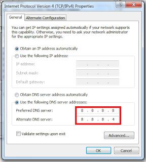 Cara Menyetting DNS Server untuk Google